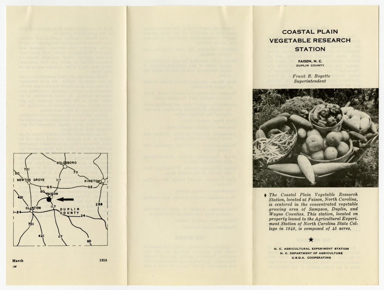 Coastal Plain Vegetable Research Station :: Extension and Outreach