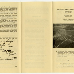 Office and administrative records for Peanut Belt Research Station