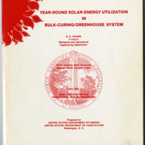 """Year-Round Solar-Energy Utilization in Bulk-Curing/Greenhouse System"" by B. K. Huang, 1981"