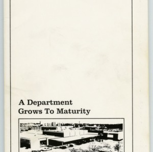 """A Department Grows to Maturity : The History of Agricultural Engineering at N. C. State University, 1914 to 1977"" by G. W. Giles"