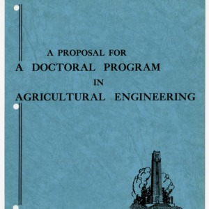 """A Proposal for a Doctoral Program in Agricultural Engineering"""