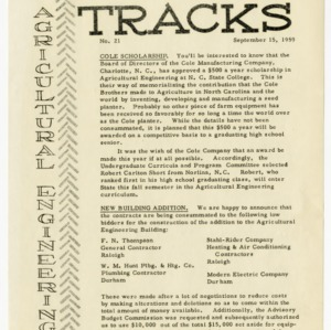 Tracks newsletter, Issue No. 21