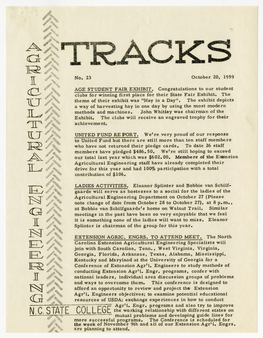 Tracks newsletter, Issue No. 23
