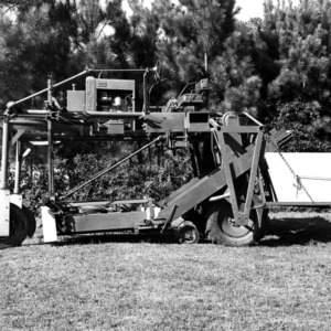 Experimental tobacco harvester