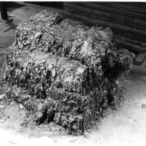 Baled tobacco
