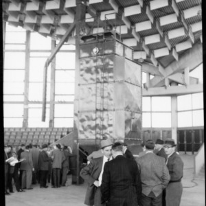 Grain Equipment Display, State Fair Arena, 1959. N.C. Grain and Feed Dealers Convention