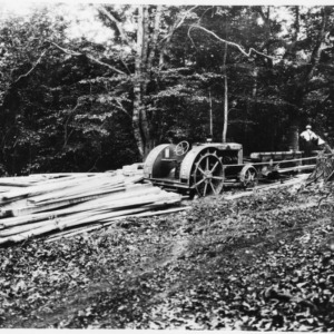 Case Tractor Running Sawmill