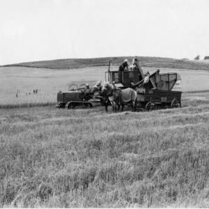 Caterpiller Tractor Pulling Holt Combine Harvester