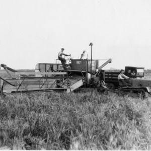 Caterpillar Tractor with Harvester