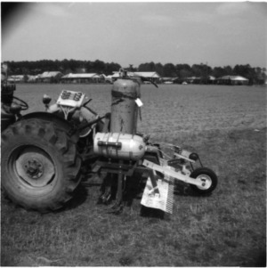 Agricultural machinery in field