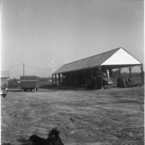 Tractor and wagon storage