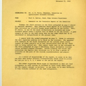 Committee on Relationships Between the Agricultural Experiment Station and the U.S. Department of Agriculture records, 1962