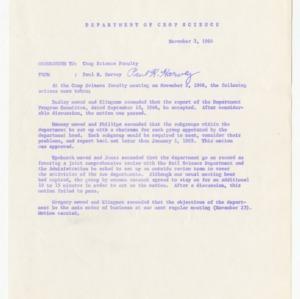 Crop Science Department Program Committee, 1964