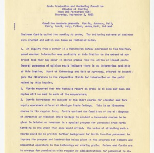 North Carolina Grain Production and Marketing Committee, 1951-1955