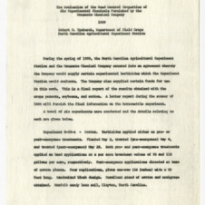 Agreement between the Monsanto Chemical Company and the North Carolina Agricultural Experiment Station, 1959
