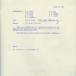Peanut Field Day records, 1970-1973