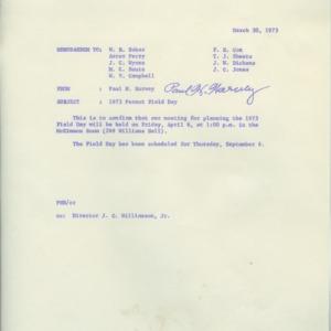 Peanut Field Day records, 1970-1973