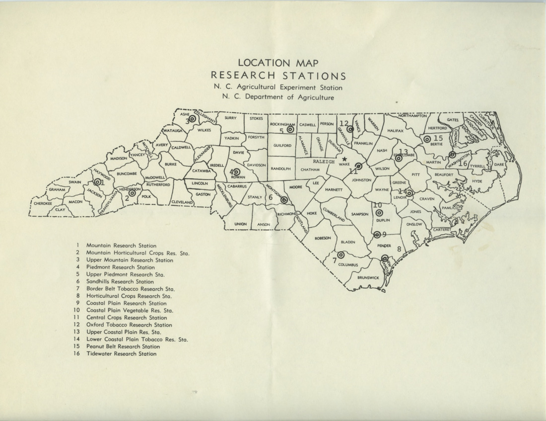 North Carolina Research Stations records, 1961-1965