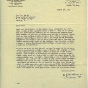 Rockefeller Foundation grant funding and collaborations, 1944-1960