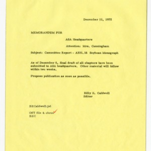 Manuscript reviews for American Society of Agronomy publications, 1967-1972