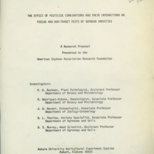 Research proposals to American Soybean Association, 1975-1979