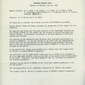 Breeders Release Board records, 1960-1964