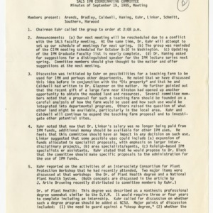 Integrated Pest Management Coordinating Committee records, 1976-1985