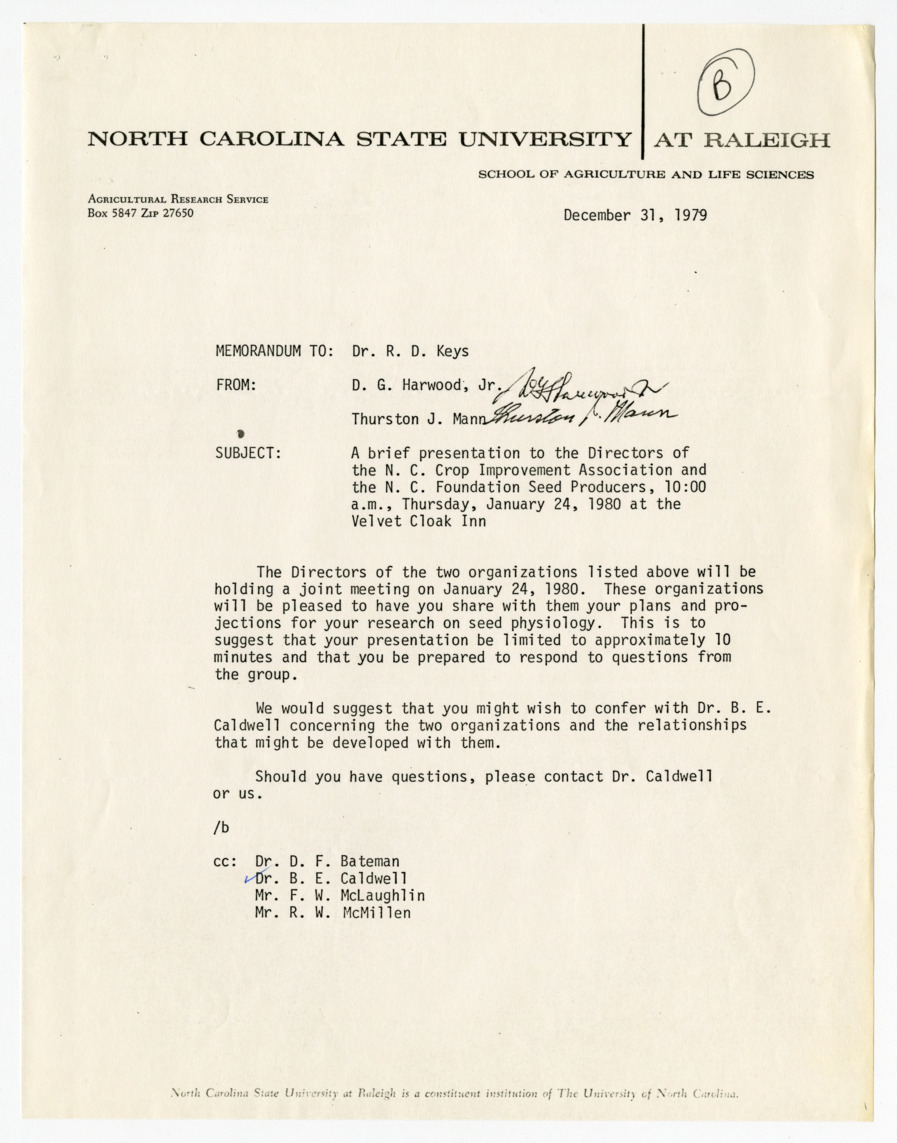 North Carolina Foundation Seed Producers records, 1977-1980