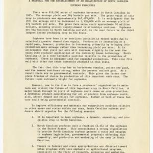 North Carolina Soybean Producers Association records, 1966-1973