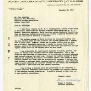 North Carolina Soybean Producers Association records, 1966-1968