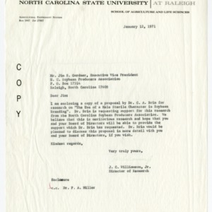 North Carolina Soybean Producers Association research proposals, 1968-1971