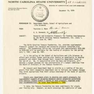 North Carolina Tobacco Foundation, Inc. records, 1976-1979