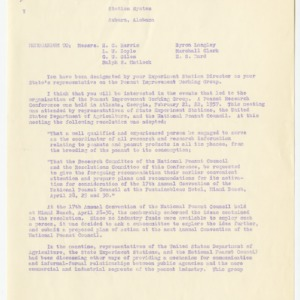 Peanut Improvement Committee (Peanut Improvement Working Group) records, 1957-1959