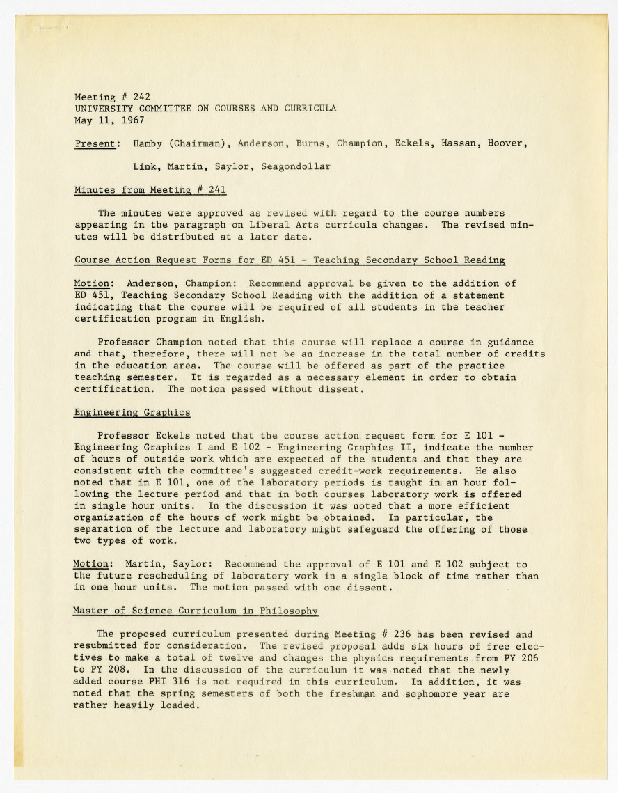 North Carolina State College Soybean Advisory Council records, 1961-1967