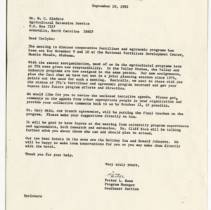 Tennessee Valley Authority records related to fertilizer research, 1970-1982