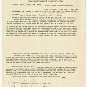 Progress reports for North Carolina Agricultural Experiment Station projects, 1951-1961