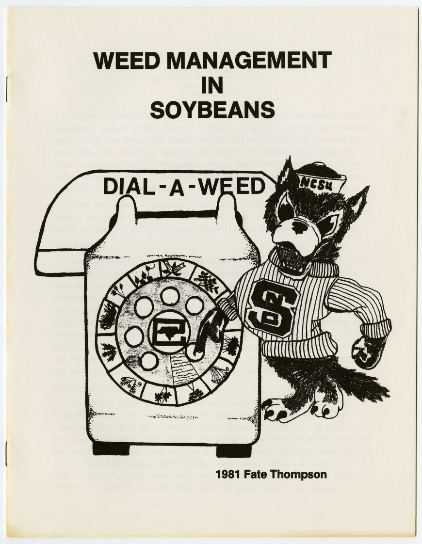 Weed Management in Soybeans by Lafayette Thompson, Jr. and Dial-A-Weed information, 1981