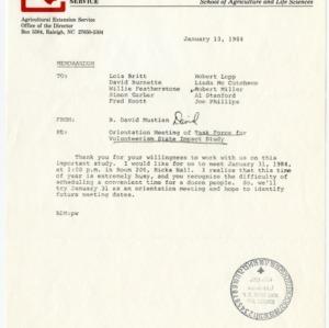 Volunteerism Task Force records, 1983-1984