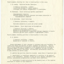 Entomology Department correspondence and records, 1962-1964