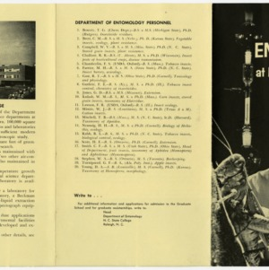Entomology Department brochures, circa 1963-1966