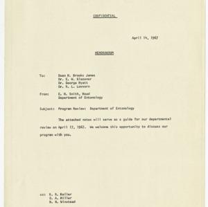 Department of Entomology program review, 1967
