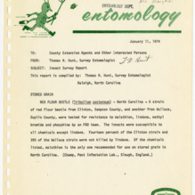 Agricultural Extension Service Insect Survey Reports, 1974