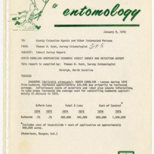 Agricultural Extension Service Insect Survey Reports, 1976