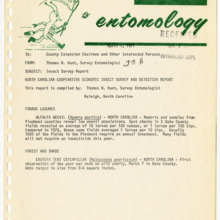 Agricultural Extension Service Insect Survey Reports, 1977