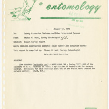 Agricultural Extension Service Insect Survey Reports, 1979