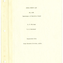 Improvement of Muscadine Grapes, Project ST, H-80 Annual Report from C. F. Williams and V. H. Underwood