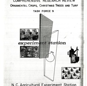 Comprehensive Research Review: Ornamental Crops, Christmas Trees and Turf, Task Force 9, October 1972