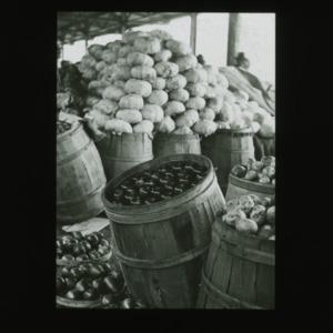 Harvested produce, circa 1910