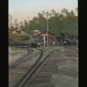 Carolina & Northwestern Railway, A Mountain Station, colorized, circa 1910