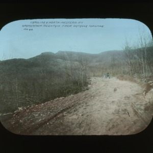 Grandfather Mountain viewed from the Watauga Turnpike, colorized, circa 1910